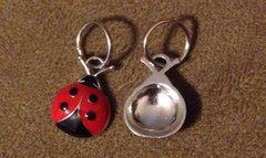 682. Enameled Ladybug Pendant