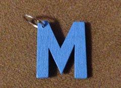 940. Wood Letter M Pendant