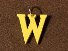 950. Wood Letter W Pendant