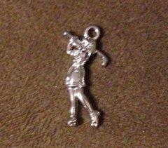 1063. Female Golfer Pendant