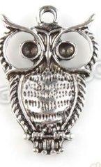 204. Hollow Eyed Owl Pendant