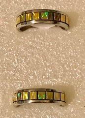1680. Stainless Steel Yellow Rainbow Ring