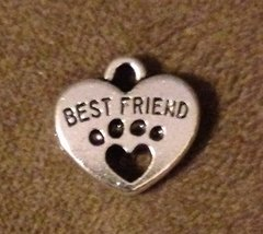 905. Best Friend Heart with Paw Print Pendant
