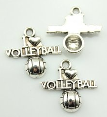60. I 'heart' Volleyball Pendant with ball