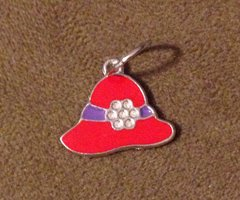 788. Enameled Red Hat Pendant