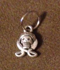 523. Skull with Crossed Swords Pendant