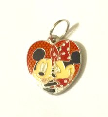 1313. Mickey and Minnie Heart Pendant
