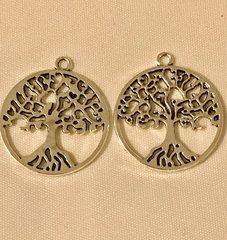 1761. Large Family Tree Pendant