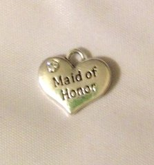 1501. 2 sided Rhinestone Maid of Honor Pendant