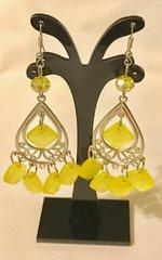 1688. Yellow Dangle Chandelier Earrings