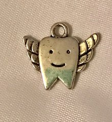 1647. Tooth with Wings Pendant