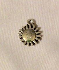 470. Antique Silver Sun Pendant