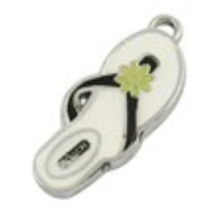 252. Enameled Flip Flop Pendant