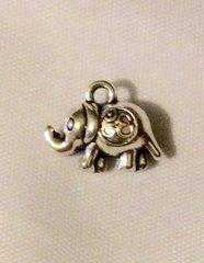 1430. 2 sided Elephant Pendant