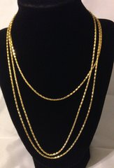 1010. Golden Snake Chain with lobster clasp Necklace