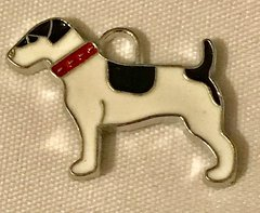 1800. Enameled Dog Pendant
