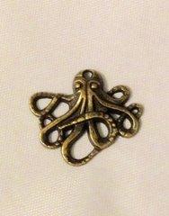 451. Antique Bronze Leggy Octopus Pendant
