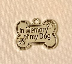 1731. In Memory of My Dog Bone Pendant