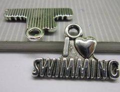 80. I 'heart' love Swimming Pendant