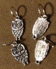 206. Small Standing Owl Pendant