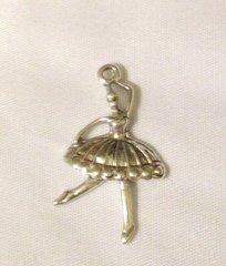 1165. Antique Silver Dancer Pendant
