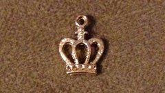 629. Gold Royal Crown Pendant