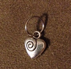 493. Heart with Swirl Pendant