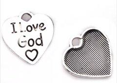 298. 'I Love God' Heart Pendant
