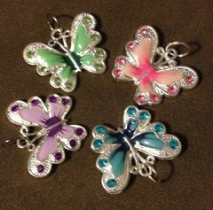 916. Large Enameled Butterfly Pendant