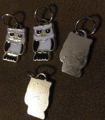 200. Enameled Owl Pendant