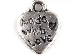 33. 'made with love' Heart Pendant