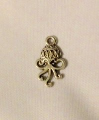 346. Antique Silver Ornate Octopus Pendant