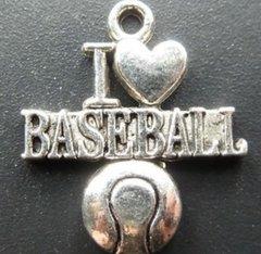 41. I 'heart' Baseball Pendant