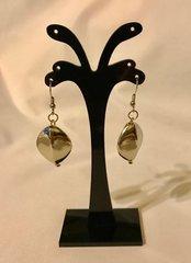 1685. Rhombus Shaped Silver Dangle Earrings