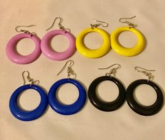 1692. Acrylic Hoop Earrings