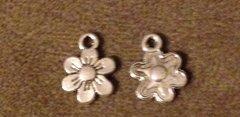 714. 2 sided Flower Pendant