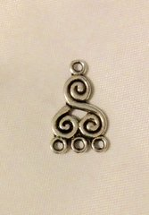 1569. Triskelion 3 Hole Connector Pendant