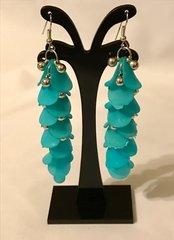 1671. Blue Dangle Earrings