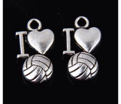59. I 'heart' love Volleyball Pendant