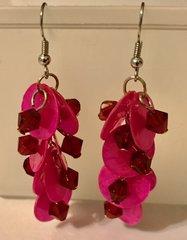 1668. Pink Shell Dangle Earrings