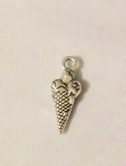 1289. Three Scoop Ice Cream Cone Pendant