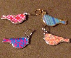 750. Colorful Chickadee Pendant