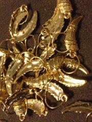 314. Golden Italian Horn Pendant