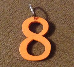 963. Wood Number 8 Pendant