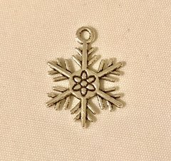 1743. 2 sided Snowflake Pendant