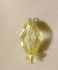 1607. November Birthstone Topaz Pendant
