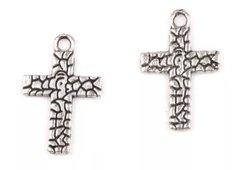 335. Crackled Cross Pendant