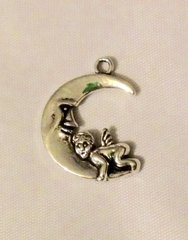 818. Moon with Baby Pendant