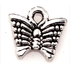 669. 2 sided Tiny Lined Butterfly Pendant