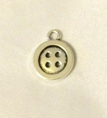 866. Silver Button Pendant